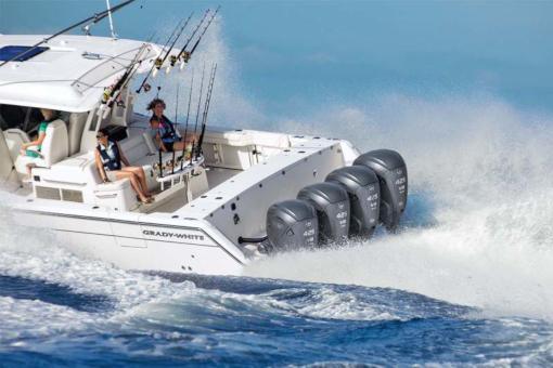 Yamaha V8 Outboard  on a Grady White boat