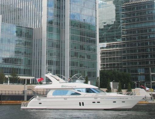 Horizon's 20 meter motoryacht powered by Cat C-18 marine diesels