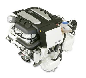 VW's 265 horsepower InLine 6 cylinder marine diesel engine.