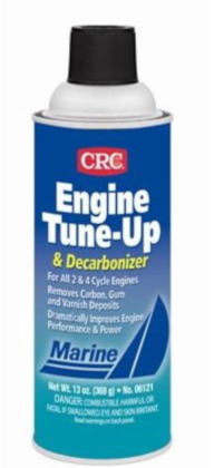 CRC engine tune decarbons outboard motor combustion chambers