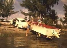 a vintage Volvo Penta Sterndrive on a trailer boat