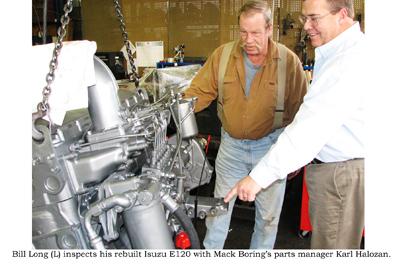 Isuzu marine diesel after 33,000 hours logged was ready for a rebuild