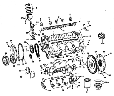 the venerable smallblock chevy V-8 exploded view