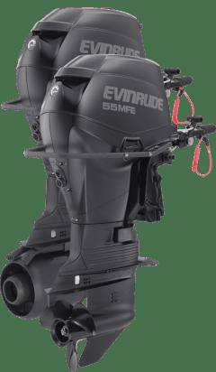 Evinrude's E55MRL multi-fuel outboard motor