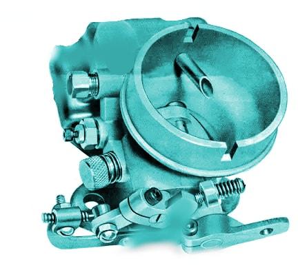 internal view of fish carburetor
