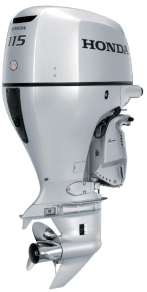 Honda BF115 hi thrust outboard motor for pontoon boats and deckboats