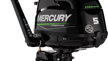 Mercury 5hp fourstroke propane fueled outboard motor
