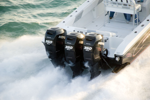 Triple Mercury Racing 350 horsepower Verado outboards