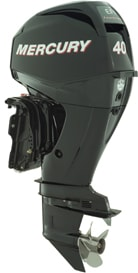 Mercury Marine 40 horsepower outboard motor made in China.