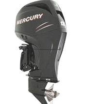 Studio shot of Mercury Verado 135 hp four-stroke outboard motor