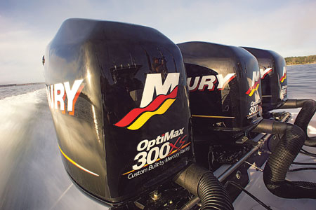 Mercury Racing Triple OptiMax outboard motors