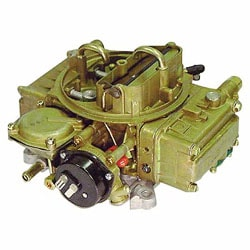 Marine carburetors, like the Holley carb above, meet USCG specifications.