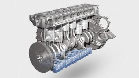 Volvo Penta I6 Cutaway