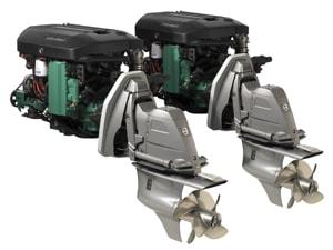 volvo penta d3 marine diesel twin sterndrives