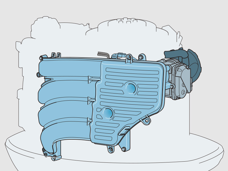 Yamaha 115 hp 4-stroke outboard motor Long Intake Manifold