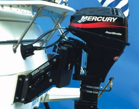 Garelick Hydra mount the foundation for the Mercury BigFoot 9.9 horsepower sailmotor